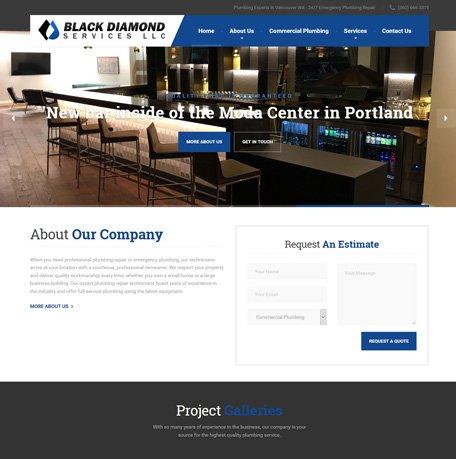 Black Diamond Services website redesign