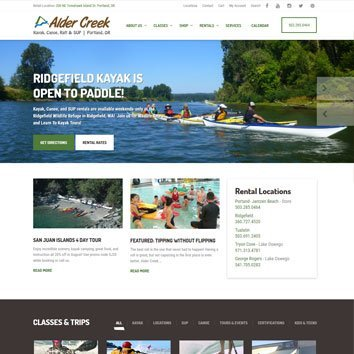Aldercreek Website Re-Design
