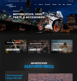 NW Motocycle website redesign