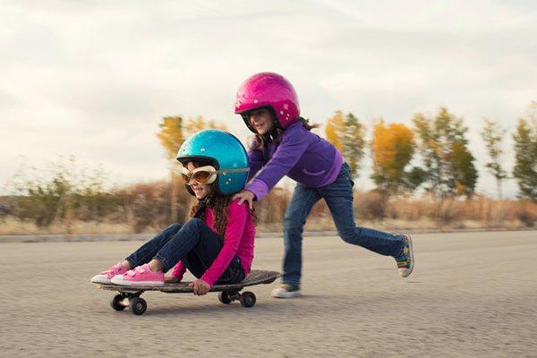 girls on skateboard