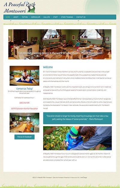 montessori website preview