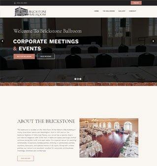 Brickstone Ballroom website redesign