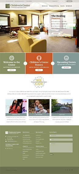 childrens center homepage