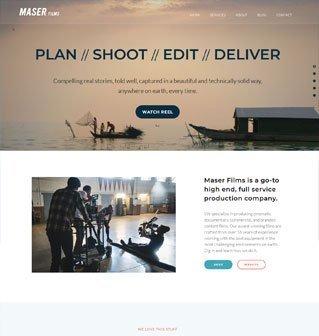 Maser Films website redesign