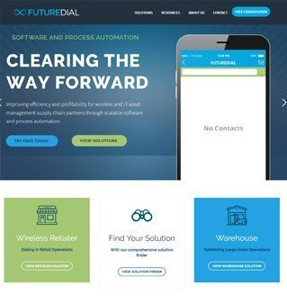 futuredial homepage