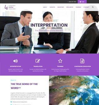 LinguisticsGA website design