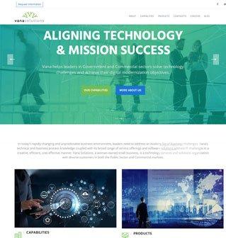 Vana Solutions website redesign
