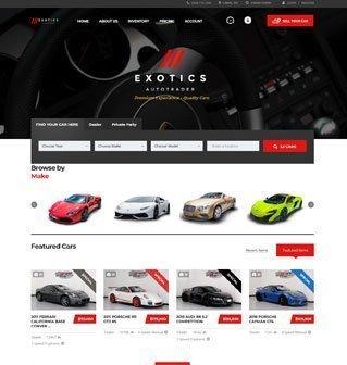 Exotics AutoTrader website design