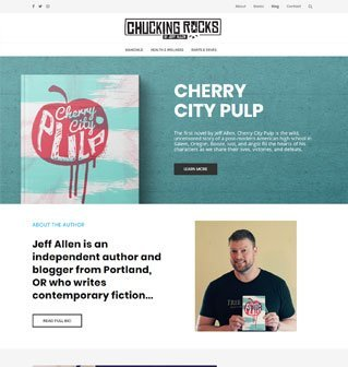 Website re-design for a local author