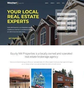 Website Re-design for a local realtor company