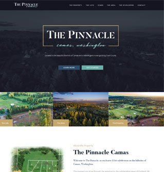 Website for the Pinnacle Camas