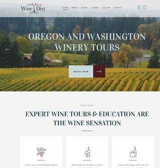 Wine Tour Website Redesign