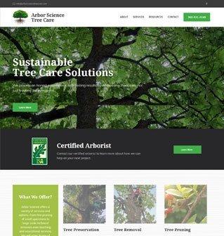 Arbor Science Website Redesign