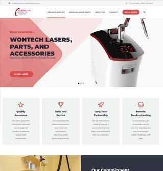 Web Design for American Medical Lasers