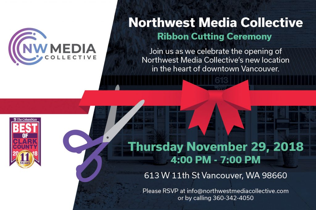ribbon cutting invite card