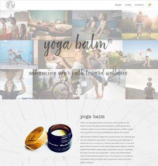 yogabalm website homepage