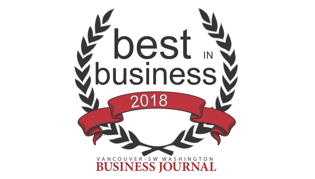 Vancouver Business Journal 2018 best in business award