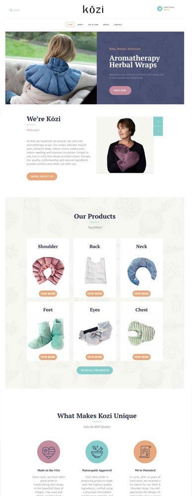 kozi fontpage website