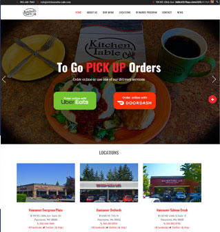 kitchen table cafe homepage